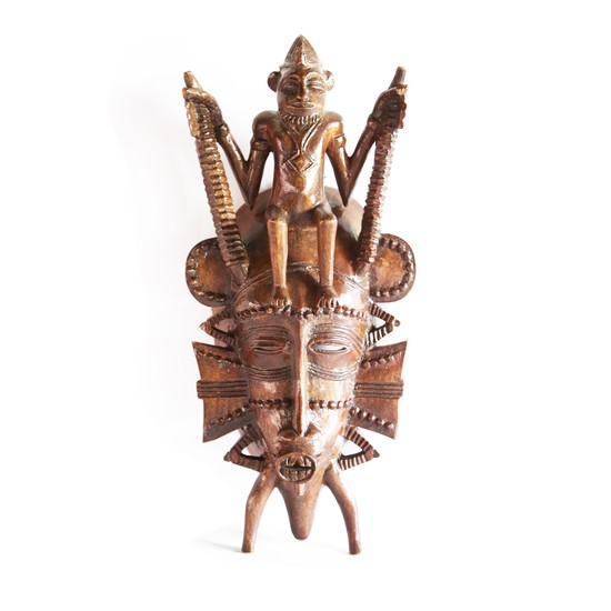Senoufu mask with man on head   medium  avana africa treniq 1 1516871241416