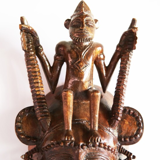 Senoufu mask with man on head   medium  avana africa treniq 1 1516871241422