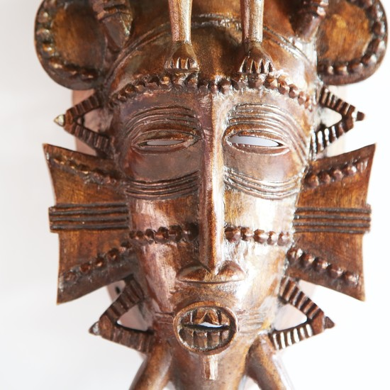 Senoufu mask with man on head   medium  avana africa treniq 1 1516871241419