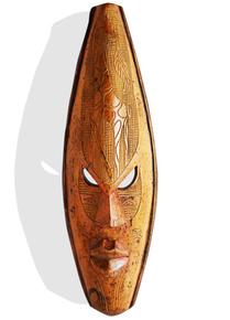 Yellow-Mask-With-Giraffe_Avana-Africa_Treniq_0