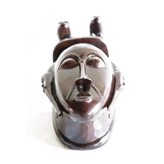 Mask baule with twin statues on headgear avana africa treniq 1 1516871532110