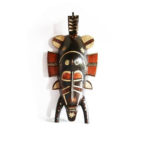 Painted senoufu twin kpelie mask avana africa treniq 1 1516871789718