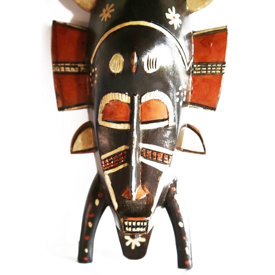 Painted senoufu twin kpelie mask avana africa treniq 1 1516871789712