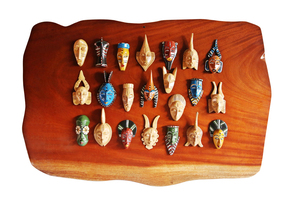 Wall-Display-With-Linear-Small-Painted-Masks_Avana-Africa_Treniq_0