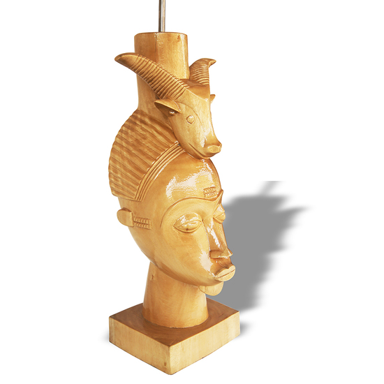 Baule mask with ram on head avana africa treniq 1 1516877290191