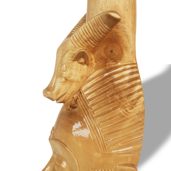 Baule mask with ram on head avana africa treniq 1 1516877290201