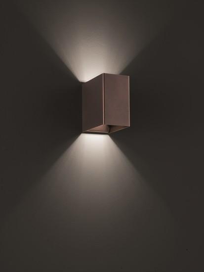 Laser cube 10x6 wall lamp coppery bronze (3000k) studio italia design treniq 1 1516895780127