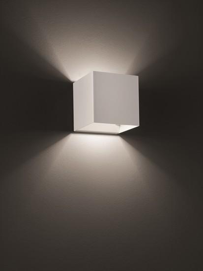 Laser cube 10x10 wall lamp matt white 9010 (3000k) studio italia design treniq 1 1516896213826