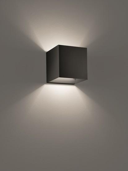 Laser cube 10x10 wall lamp matt black (3000k) studio italia design treniq 1 1516896293566
