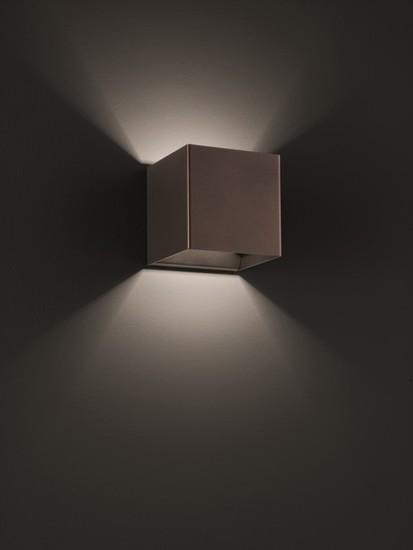 Laser cube 10x10 wall lamp coppery bronze (3000k) studio italia design treniq 1 1516896348896