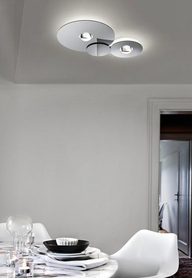 Bugia double ceiling lamp chrome (3000k) studio italia design treniq 1 1516977099427