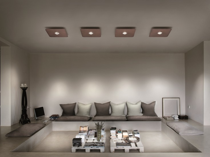 Frozen small ceiling lamp coppery bronze (3000k) studio italia design treniq 1 1517235707488