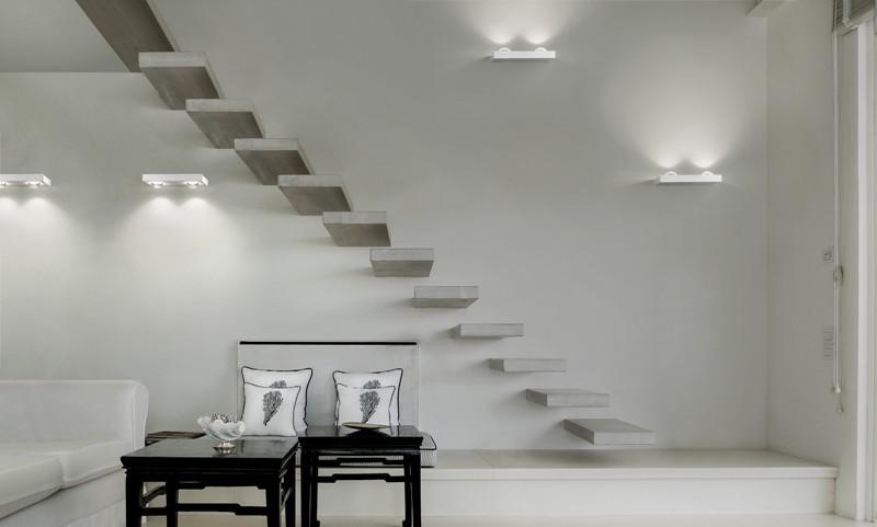 Shelf double wall lamp matt white (3000k) studio italia design treniq 1 1517237644527