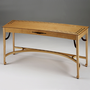 Birds Eye Maple Desk - Philip Dobbins - Treniq