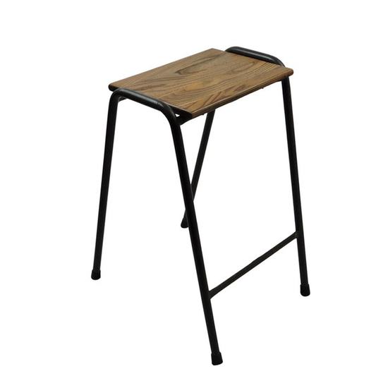 Set of five british elm topped science lab stools danielle underwood treniq 1 1517328442791