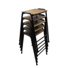Set of five british elm topped science lab stools danielle underwood treniq 1 1517328442790
