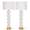 Midcentury stacked murano glass fonts lamps  a pair sergio jaeger treniq 1 1517938372430