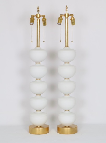 Midcentury stacked murano glass fonts lamps  a pair sergio jaeger treniq 1 1517938372429