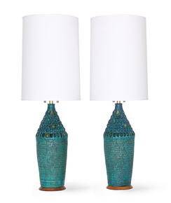 Mid-Century-Modern-Quartite-Creative-Corp.-Brutalist-Style-Lamps-In-Turquoi_Sergio-Jaeger_Treniq_0