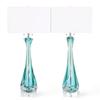 Mid century archimede seguso table lamps in sommerso murano glass sergio jaeger treniq 1 1517944401236