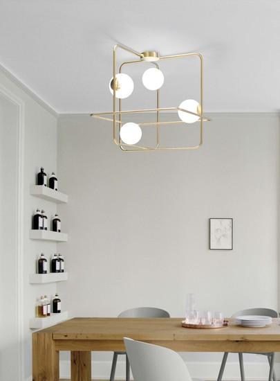 Intrigo suspension lamp satin gold marchetti treniq 1 1518165364881