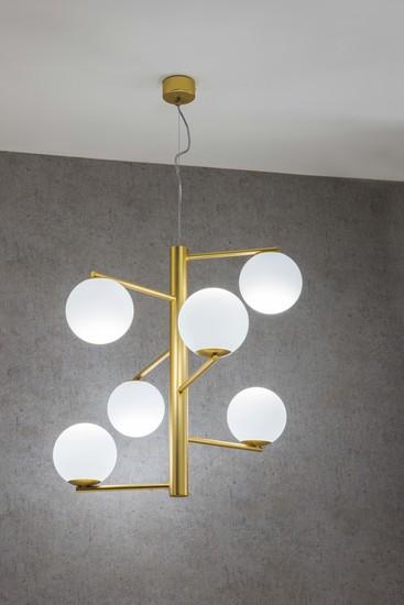 Tin tin s1 suspension lamp satin gold marchetti treniq 2 1518167914280