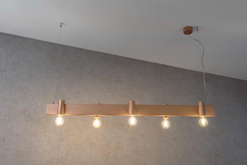 Minimal suspension lamp satin copper marchetti treniq 1 1518173014638