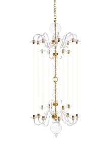 Echo Large Glass Arm Chandelier