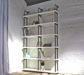 Sean Reclaimed White Painted Bookcase