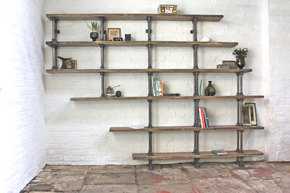 Emilie Asymmetric Reclaimed Wood Bookcase
