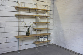 Yuka Reclaimed Wall Mounted and Floor Bookcase