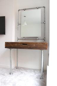 Meila Reclaimed Pipe Framed Mirror