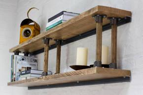 Letty Reclaimed Scaffolding Shelves