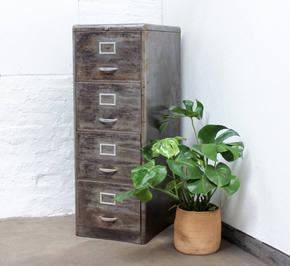 Marizio 1950s 4 Drawer Filing Cabinet