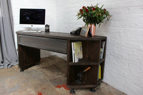 Fairfield Desk with Incorporated Shelving