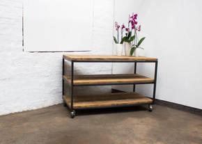 Charlie Framed Table with Shelves