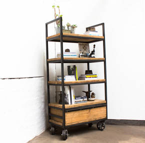 Ralph Framed Standing Shelves with Drawer