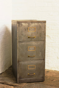 Angela Chic 1960s 3 Drawer Filing Cabinet