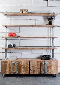 Jo 4 Door Sideboard with Shelves Above