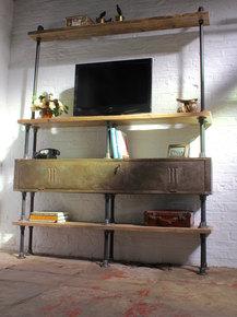 Kensington Shelving Unit with Vintage Locker