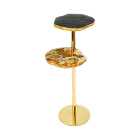 Jagged Tiers Side Table - Aurum - Treniq