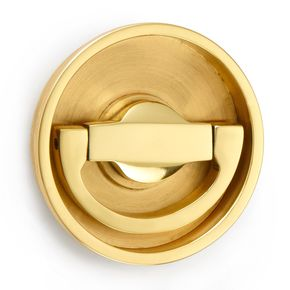 Croft Hardware Flush Latch Ring Handle on Round Backplate