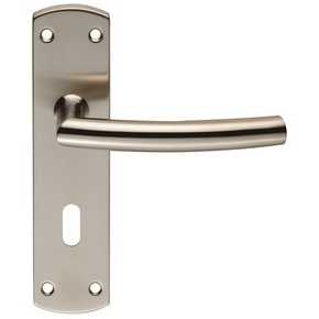 Eurospec Arched Door Handle on Backplate