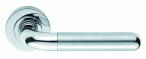 Eurospec Shore Designer Door Handle on Rose