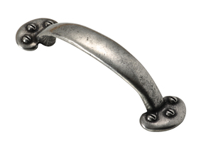 Finesse Pewter Bow Bean Cupboard Handle