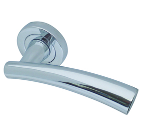 Frelan Garda Door Handle on Rose