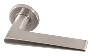 Frelan Meteor Door Handle on Rose