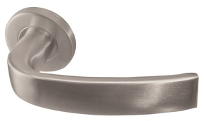 Frelan Nebula Door Handle on Rose