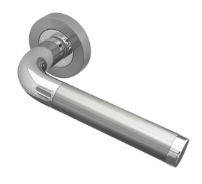 Frelan Twin Door Handle on Rose
