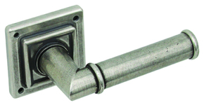 Hafele Lamont Door Handle on Square Rose